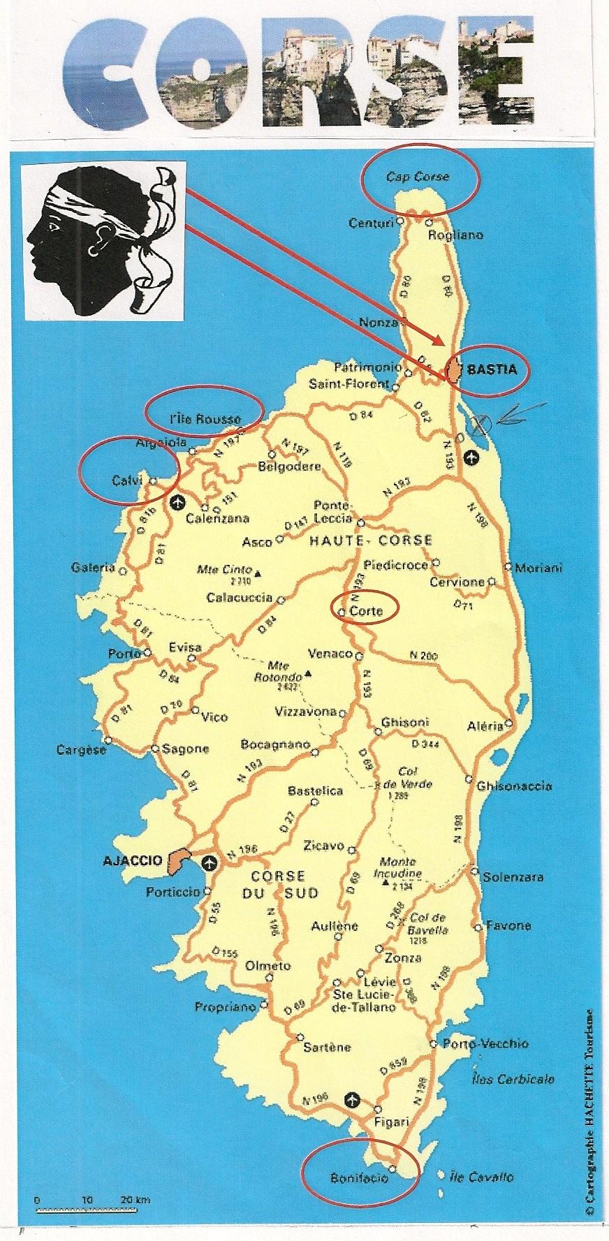Voyage Corse Carte
